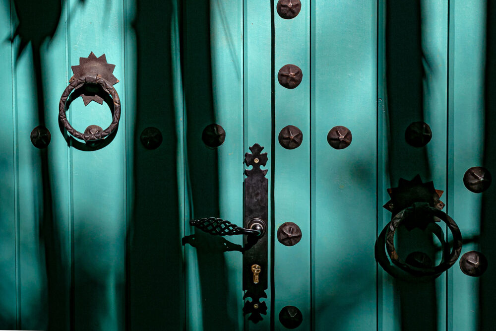 #turquoise #door #shadow_play #shadows #marrakesh #photography